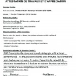 attestation de travaux Ecovenir 1000